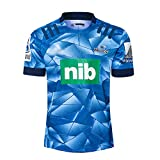 2020 Blues Super Rugby Maillot de Rugby Domicile et Extérieur Chemises de Rugby à Manches Courtes Blues Summer pour Hommes Femmes Jeunes Maillot de Rugby Bleu et Blanc-Blue-S