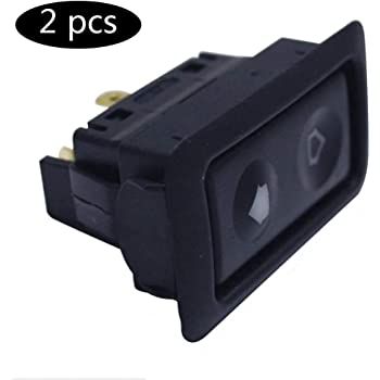 uxcell/® Universal 6 Pin Car Vehicle Door Window Power Electric Control Switch Black DC 12V