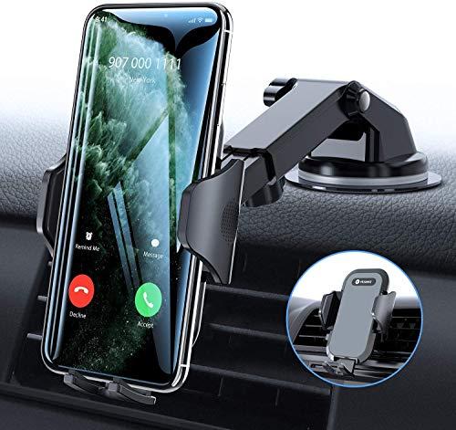 Handyhalter fürs Auto Handyhalterung 3 in 1 Universal Saugnapf Lüftung KFZ Smartphone Halterung Kratzschutz für iPhone 11 XS X 8 7 6 Plus Samsung Galaxy S20 S10+ Note10 Huawei Mate30 P30 Pro usw