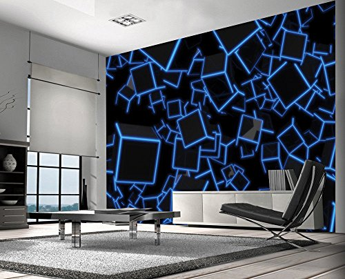 3D Cubes Colourful Wallpaper Photo Wall Mural Home Living Room Home Decoration 390x260cm