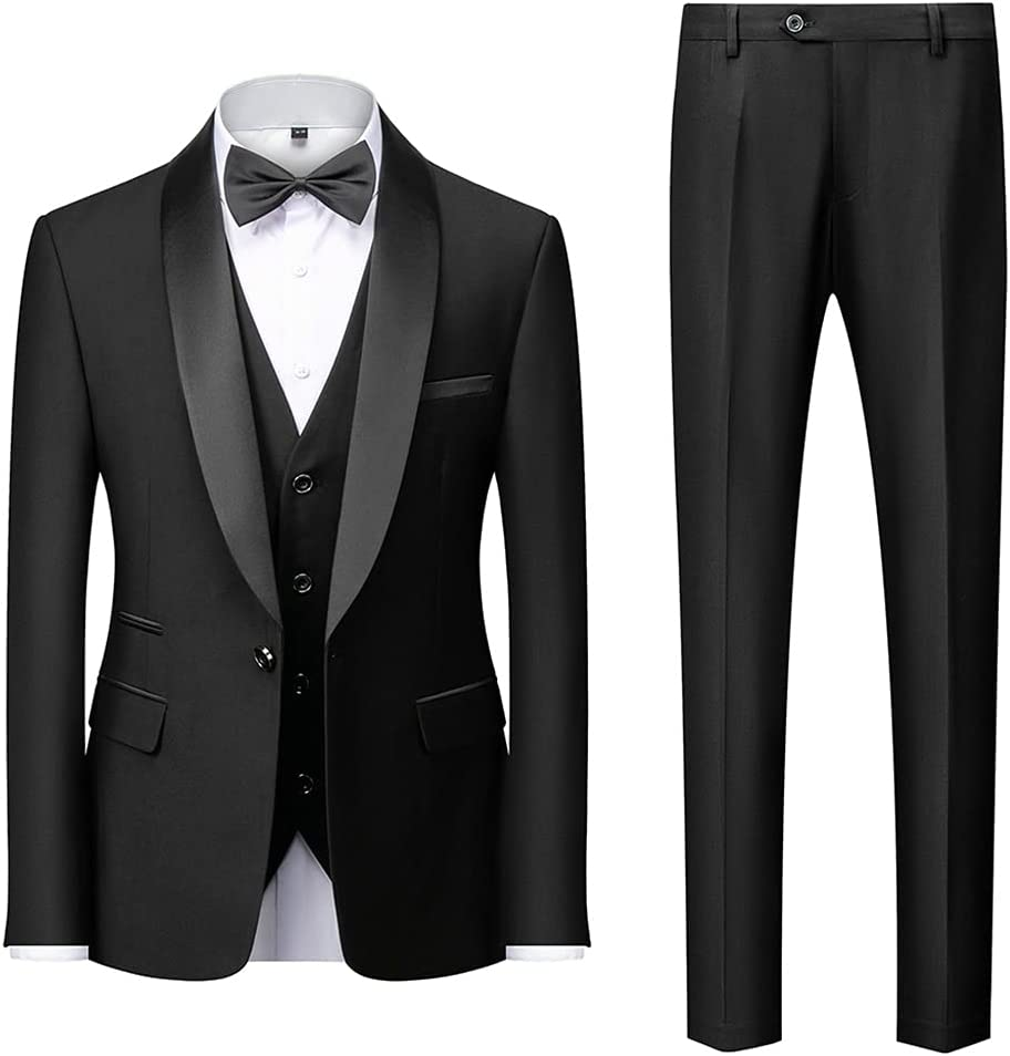 ZTTZX Free Shipping Cheap Bargain Gift Men Collar Suits Jacket Trousers Business Waistcoat Male C 40% OFF Cheap Sale