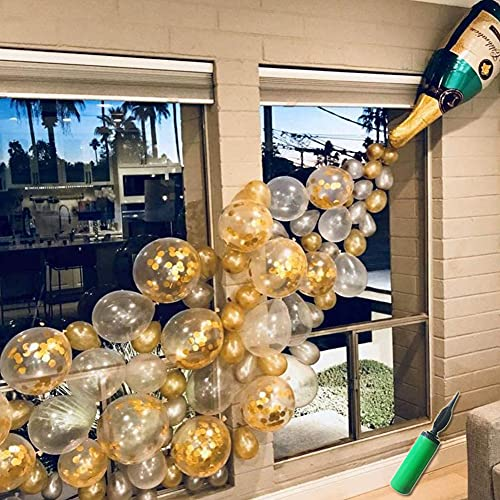 Champagne Bottle Balloons Party Decorations, Confetti Balloon Arch for Birthday Decorations,Wedding,Christmas