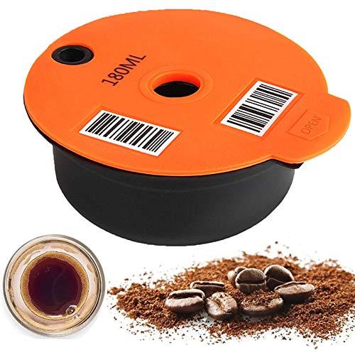 AUTOECHO Wiederverwendbare Kaffeekapseln, Lebensmittelgrad PP Material Kaffeefilter Nachfüllbar, Kapsel Pod Kompatibel Filterbecher Caffitaly Kaffeemaschinen, Kompatibel Mit Bosch-s Tassimo Maschinen