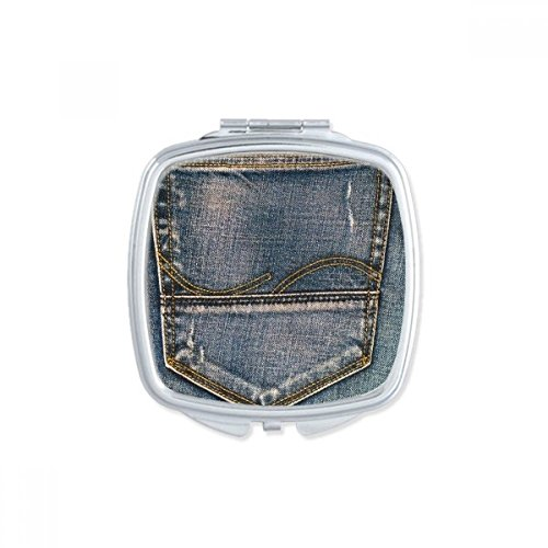 DIYthinker Lin Papillon Tradition Conception de Broderie carrée Maquillage Compact Miroir de Poche Portable Mignon Petit Cadeau Miroirs Main Multicolor