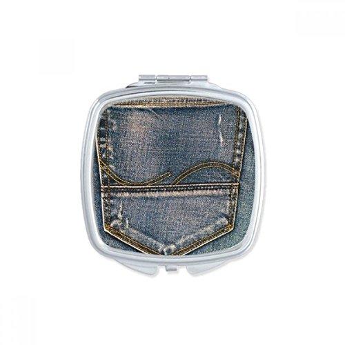 DIYthinker Lin Papillon Tradition Conception de Broderie carrée Maquillage Compact Miroir de Poche Portable Mignon Petit Cadeau Miroirs Main Multicolor