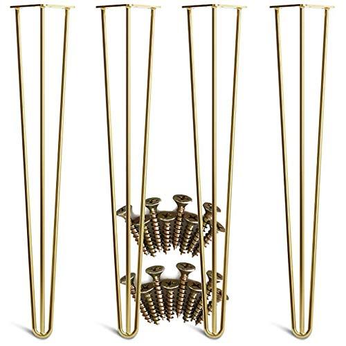 YuBao metalen poten voor 4 poten, eenvoudig te installeren, van goud voor meubels, moderne Mid-Century poten voor koffie en tafels, stoelen, fai-da-Te-projecten