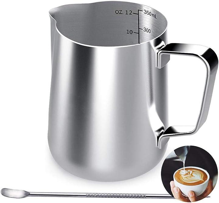 Bricco da latte per cappuccino 350 ml - acciaio inossidabile- srxwo ADS-Milk Jug-0428