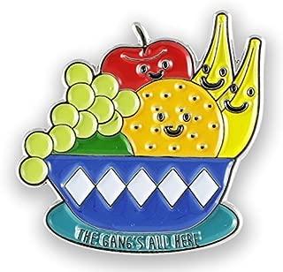 Food Faces Enamel Lapel Pin Set