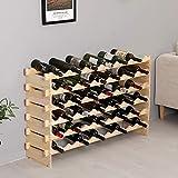 Turefans Porte-Bouteilles,Étagère à vin en Bois,Casier à vin,Parfait pour Cave à vin (72 Bouteilles , 119 * 29 * 71.5cm)