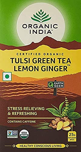 Organic India Tulsi Green Tea Lemon Ginger 25 TB