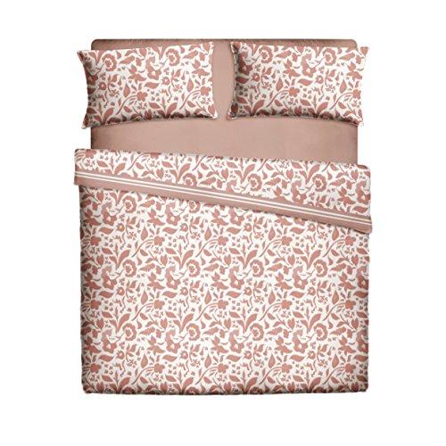 Casa Lieri - Juego de sábanas de 135, Algodón, 50% Poliéster, Coral. Cama 135 (Todas las medidas)