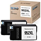 TEINO Remanufactured Ink Cartridges Replacement for HP 952 952XL 952 XL use with HP OfficeJet Pro 8710 8720 7740 8702 8715 8740 8730 7720 8200 8210 8216 8725 8700 8716 8728 8718 8714 (Black, 2-Pack)