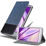 Cadorabo Coque pour LG G2 Mini en Bleu FONCÉ Noir - Housse Protection avec Fermoire Magnétique,...