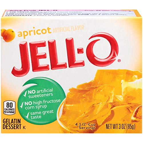 Jell-O Apricot Gelatin Mix (3 oz Boxes, Pack of 6)