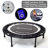 MaXimus Indoor Fitness-Trampolin Bounce & Burn. Indoor Trampolin für Jumping Fitness. Rebounder...