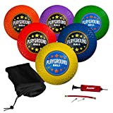 """Franklin Sports Playground Balls - Rubber Kickballs and Playground Balls For Kids - Great for Dodgeball, Kickball, and Schoolyard Games – 8.5"""" Diameter, Multicolor Pack of 6"""