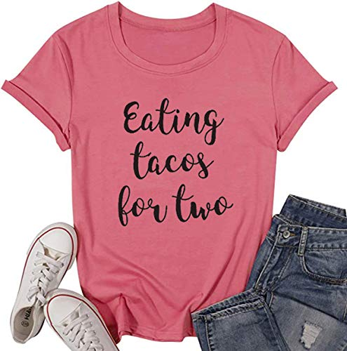 YUYUEYUE Eating Tacos for Two Pregnancy Announcement Funny T Shirt...