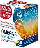 ACT Omega 3 con 1 Gr Olio di Pesce Rosso, 60 Perle, 82.5 Grammi