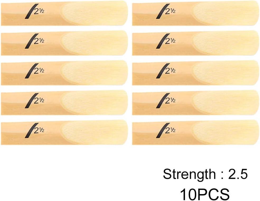 Strength 1.5, 2.0, 2.5, 3.0, 3.5, 4.0 Denpetec Clarinet Soprano Altoo Sax Reeds,Reeds for Alto Saxophone ,10Pcs
