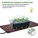 """Mixc 120 cells seed trays seedling starter tray humidity adjustable plant starting kit with dome and base greenhouse… 9 keep an eye on your growth: the only design in the market- high quality clear plastic trays of this seed grow kit make it easy to observe your plants without interrupting the process total control: adjustable vents of this seed trays allow you to regulate the temperature and humidity of your seedling environment, so you have total control over the growing process perfect size for seed starting: size of the cells: 1. 5""""in length and 1. 5""""in wide, these seed trays are suitable for small seeds, such as flowers, vegetables, fruits, tobacco and other plants."""