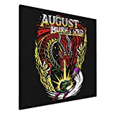 ELISE GILES August Burns Red Painting Wall Art Canvas Pictures Artwork Wall Art for Bedroom Living Room Bathroom Decoration Framed Ready to Hang 20X20 Inch
