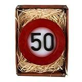 Lustapotheke handgemachte Seife zum 50. Geburtstag im Verkehrszeichen Look