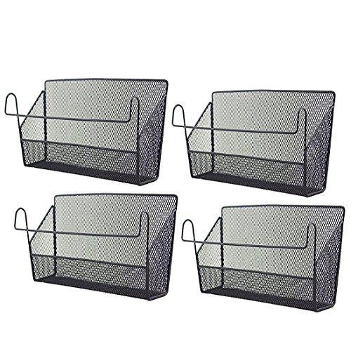 Mecotech Opknoping Opslag Mand, 4 Stks Opknoping Opslag Mand Houder Rek IJzeren Draad Desktop Hoek Planken voor Slaapzaal Kantoorbed Stapelbed