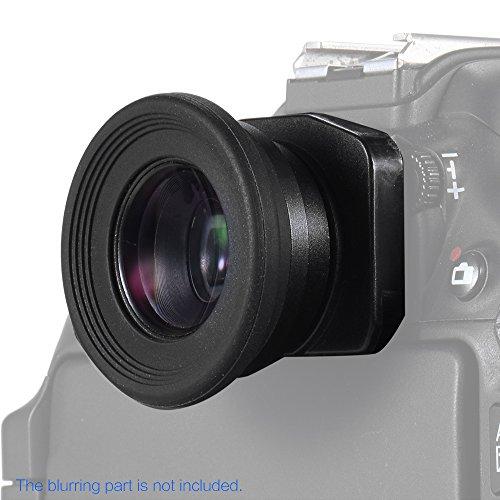 Andoer 1.51X Fixfokus Kamera Sucher Sucherokular Augenmuschel Sucherlupe mit 2 Augenklappen für Canon Nikon Sony Pentax Olympus Fujifilm Samsung Sigma Minoltaz DSLR-Kamera