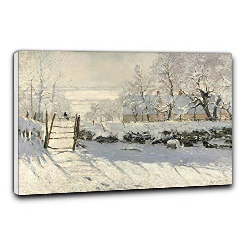 Niik Quadro + Telaio (BB) la Gazza di Claude Monet 60 x 41 x 1,7 cm Falso d'autore Stampa su Tela