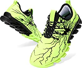BRONAX Walking Shoes for Men Comfortable Lightweight Colorful Slip on Casual Easy Walk Minimalist Gym Sport Fitness Athletic Running Sneakers Green Size 9.5