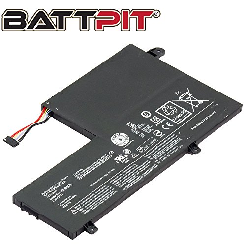 BattPit Laptop Battery for Lenovo L14L3P21 L14M3P21 IdeaPad Flex 3-1480 3-1570 Yoga 500-14ISK 500-14IBD Edge 2-1580 - [4050mAh/45Wh]