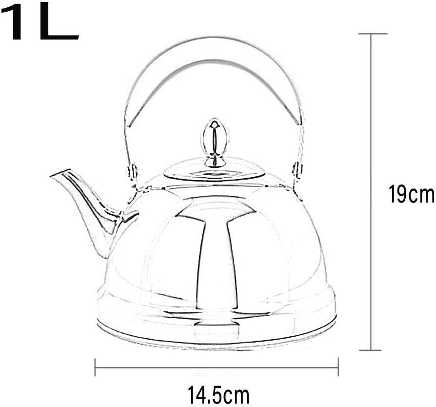 Jia He bouilloire Bouilloire à fond plat bouilloire à trois usages café théière bouilloire bouillir eau chaude 1L 2 couleurs en option Jia He@@ (Couleur : Red) Bleu