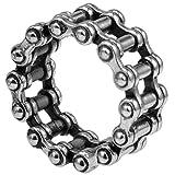 Stainless Steel Motorcycle Biker Ring (8.5)