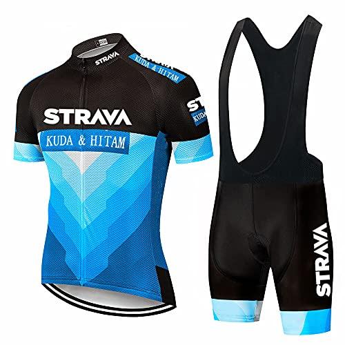 Abbigliamento ciclismo Set completo Tuta Bici Maglia + Salopette Pantaloncini - XL , Mod 01