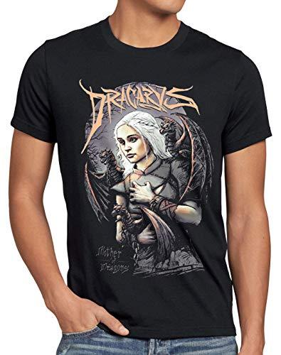 style3 Drachenmutter T-Shirt Herren Thrones stark Daenerys Targaryen Game, Größe:4XL