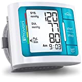 iProven Wrist Blood Pressure Cuff, Large Monitor with Backlight, 60 Reading Memory and Batteries Included BPM-337BLU