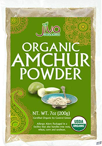 Organic Amchur (Dry Mango) Powder 7oz - Non-gmo, All Natural Amchoor Powder - By Jiva Organics
