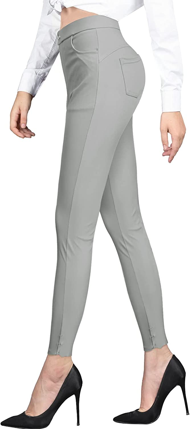 CLIV Women's Dress Pants Skinny Leg Work Pants Pull on Stretch Ease into Comfort Office Ponte Pant