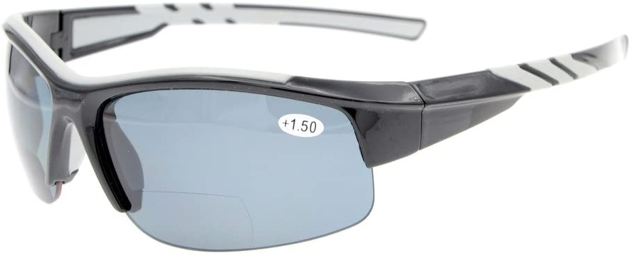 Eyekepper Seasonal Wrap Introduction TR90 Unbreakable Sports Half Max 79% OFF Bifocal Sunglasse Rimless