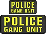 Embroidered Patch - Patches for Women Man - Police Gang Unit Hook Yellow