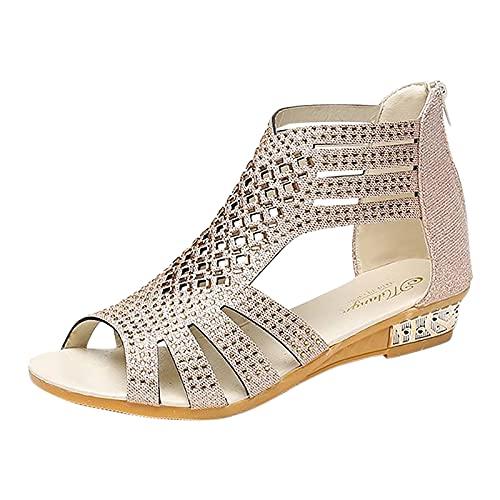 Sandalias Romanas de Mujer Verano 2021 con Diamante de imitación Zapatos de...