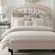 100% algodón Color Blanco Hotel de 5 Estrellas Juego de Cama de Lujo Queen King Size 4pcs sábana Juego de Ropa de Cama Funda nórdica Bordada