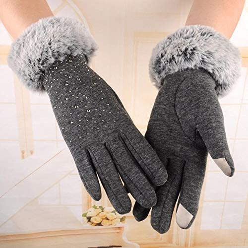 #5 Fashion Womens Fashion Winter Outdoor Sport Warm Gloves - (Color: Gray, Gloves Size: Free Size)