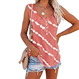 Women's Floral Print Short Sleeve Tops Striped Casual Blouses T Shirt Spring Tops for Womens Sexy Tops for Womens Cleavage Spring Blouses for Women 2021 Dress for Women Casual($2-Pink,L)