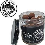 Carp Killers Black Fish & Garlic Pop Up Boilies, Karpfenköder, Durchmesser 16mm & 20mm zur Auswahl, 100g in der Dose, Durchmesser:20mm