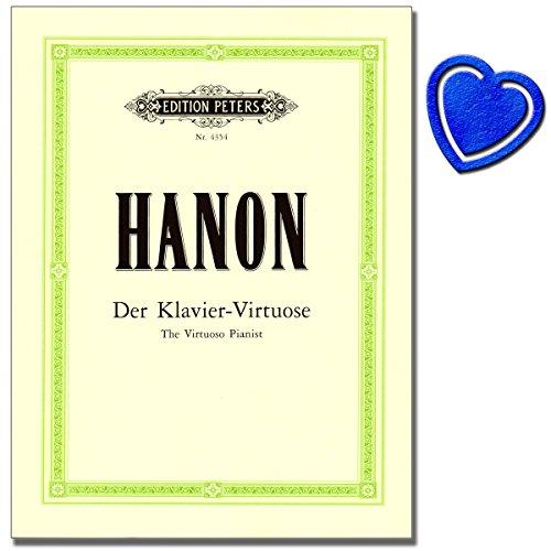 Hanon Charles Louis - Klavier Noten - Neue und durch Ergänzungsübungen erweiterte Ausgabe - Eine der grundlegenden Technikschulen für Pianisten mit herzförmiger Notenklammer
