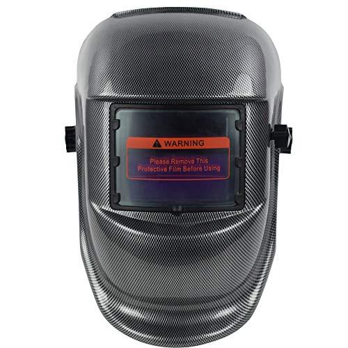 XTRM Casco De Soldadura Máscara De Oscurecimiento Automático Función De Protección Solar Herramienta De Uso Industrial Soldador Pulido Gafas De Seguridad (Carbon,One)