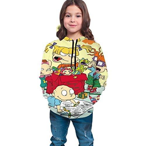 huatongxin Sudaderas con Capucha Unisex para Adolescentes Rugrats Sudaderas con Capucha Unisex con Estampado 3D Sudaderas con Capucha Casual Sudaderas con Capucha para niños/niñas/Adolescentes