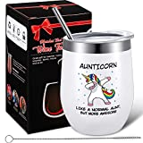 Funny Aunticorn Coffee Mug Unicorn Aunt Gift, Best Aunt Ever Birthday Gifts for Women, Sister,...