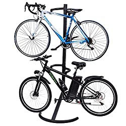 Freestanding Gravity Two Bike Rack Bicycles Stand
